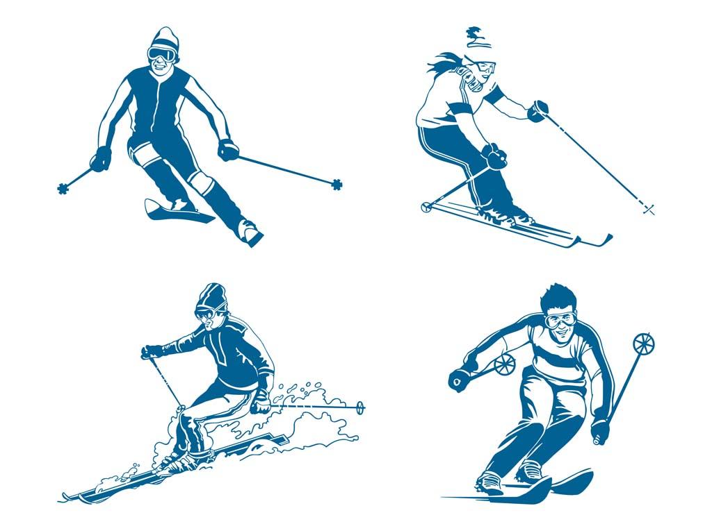 1024x765 Skiers Vector Vector Art Amp Graphics