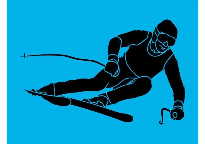 700x490 Skiing Silhouette