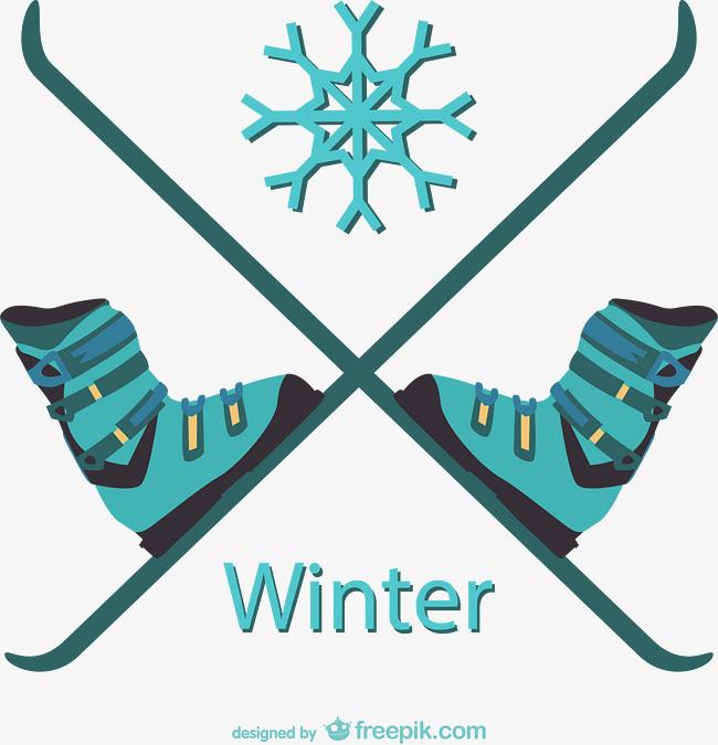 650x675 Winter Ski Vector Material, Winter Vector, Ski Vector, Vector Png