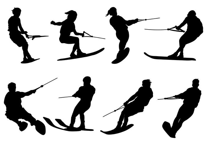 700x490 Free Water Skiing Icons Vector