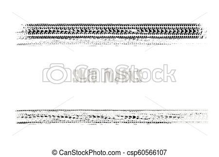 450x323 Skid Marks 04. Automobile Tire Tracks Vector Illustration In Black