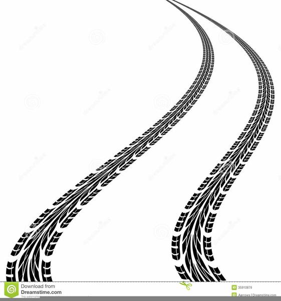 561x600 Track Clipart Skid Marks Cute Borders, Vectors, Animated, Black