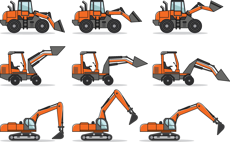 2778x1721 Euclidean Vector Skid Steer Loader Excavator