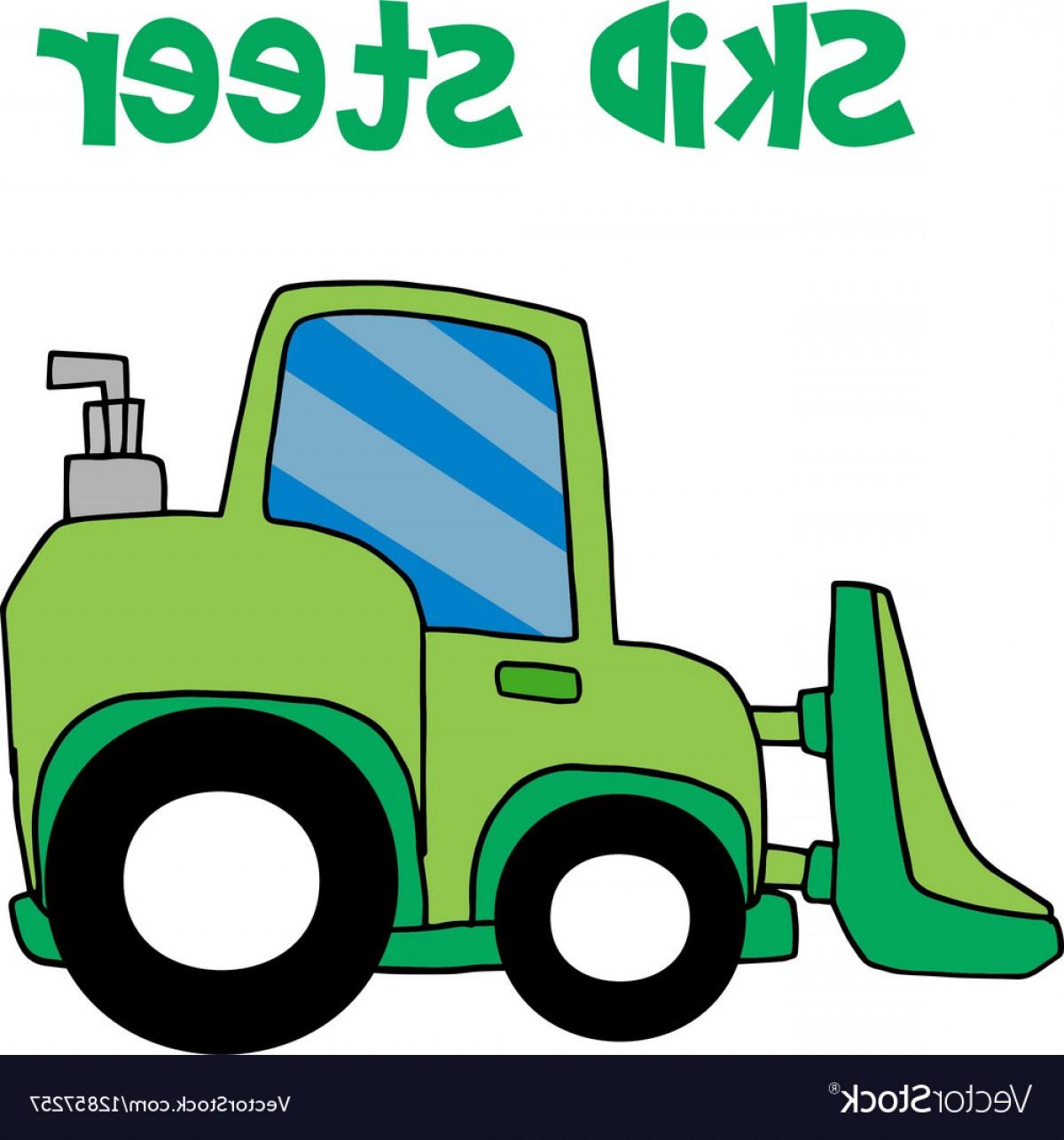 1200x1286 Green Skid Steer Cartoon Vector Arenawp