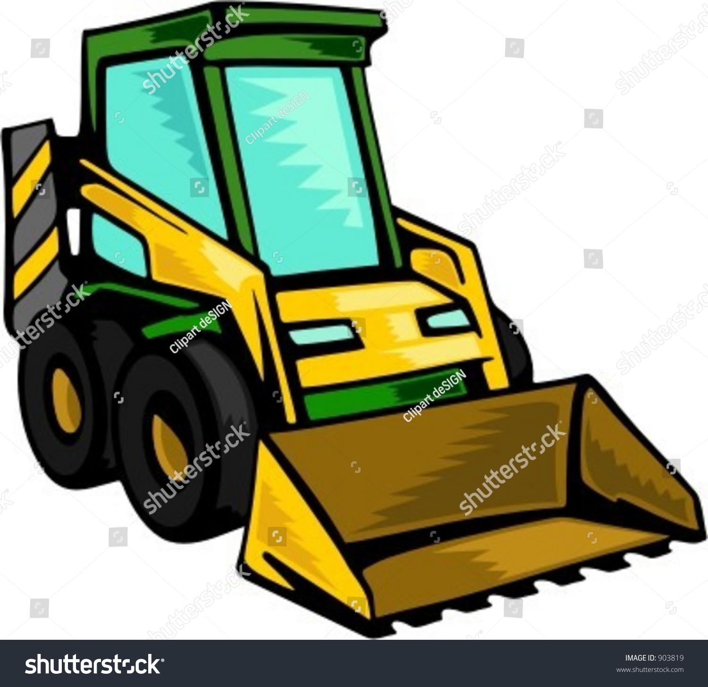 1500x1455 Bulldozer Clipart Skid Steer ~ Frames ~ Illustrations ~ Hd Images