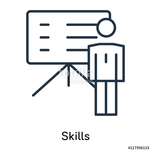 500x500 Skills Icon Vector Isolated On White Background, Skills Sign