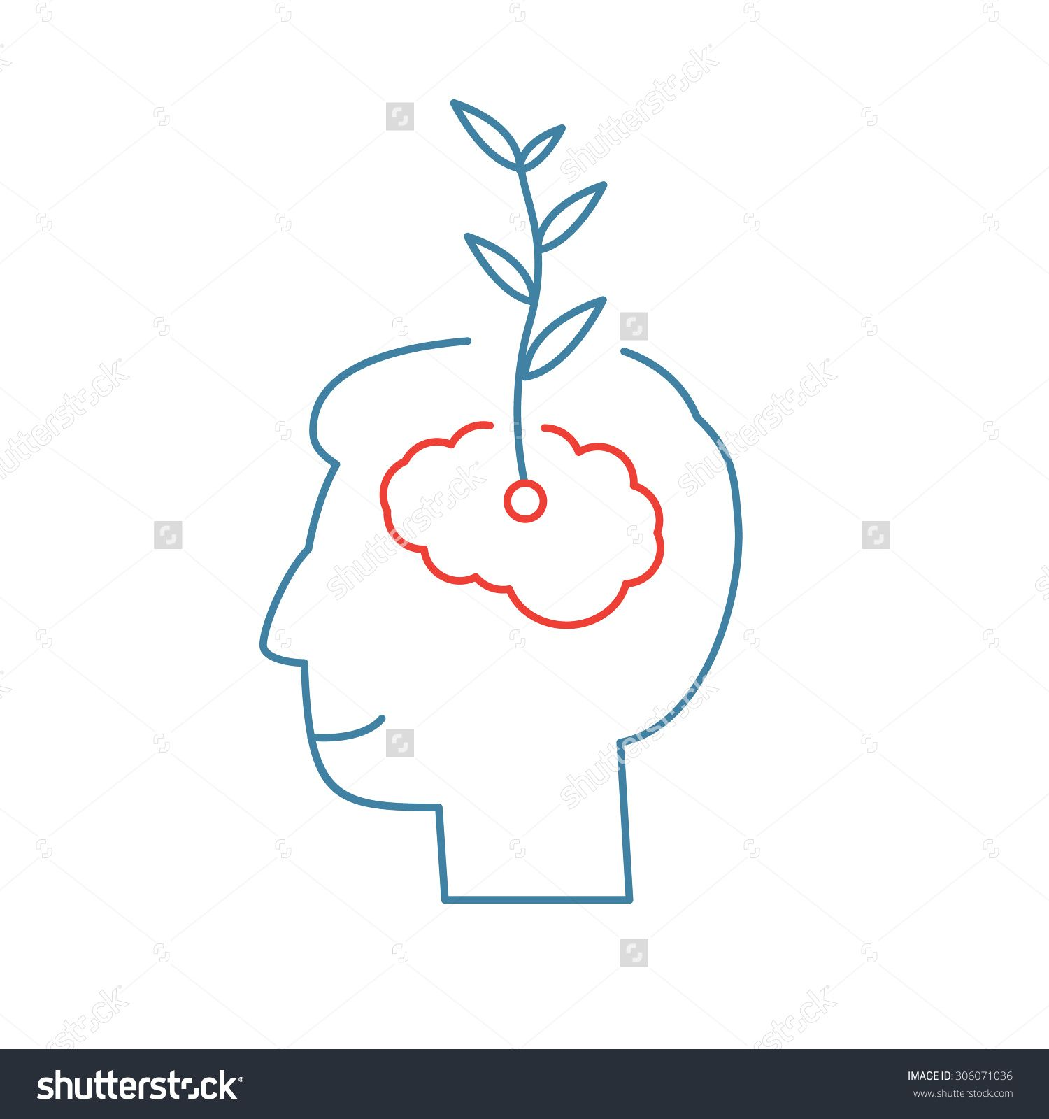 1500x1600 Vector Growth Mindset Skills Icon Growing Plant From The Brain