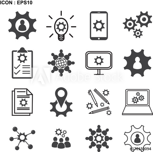 500x497 Knowledge, Ability, Skills Icon, Vector Illustration Eps10