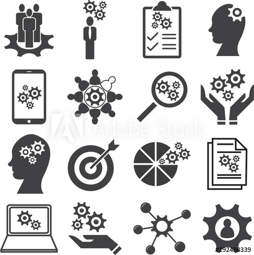 498x500 Knowledge Of Population, Ability, Skills Icon Set, Vector