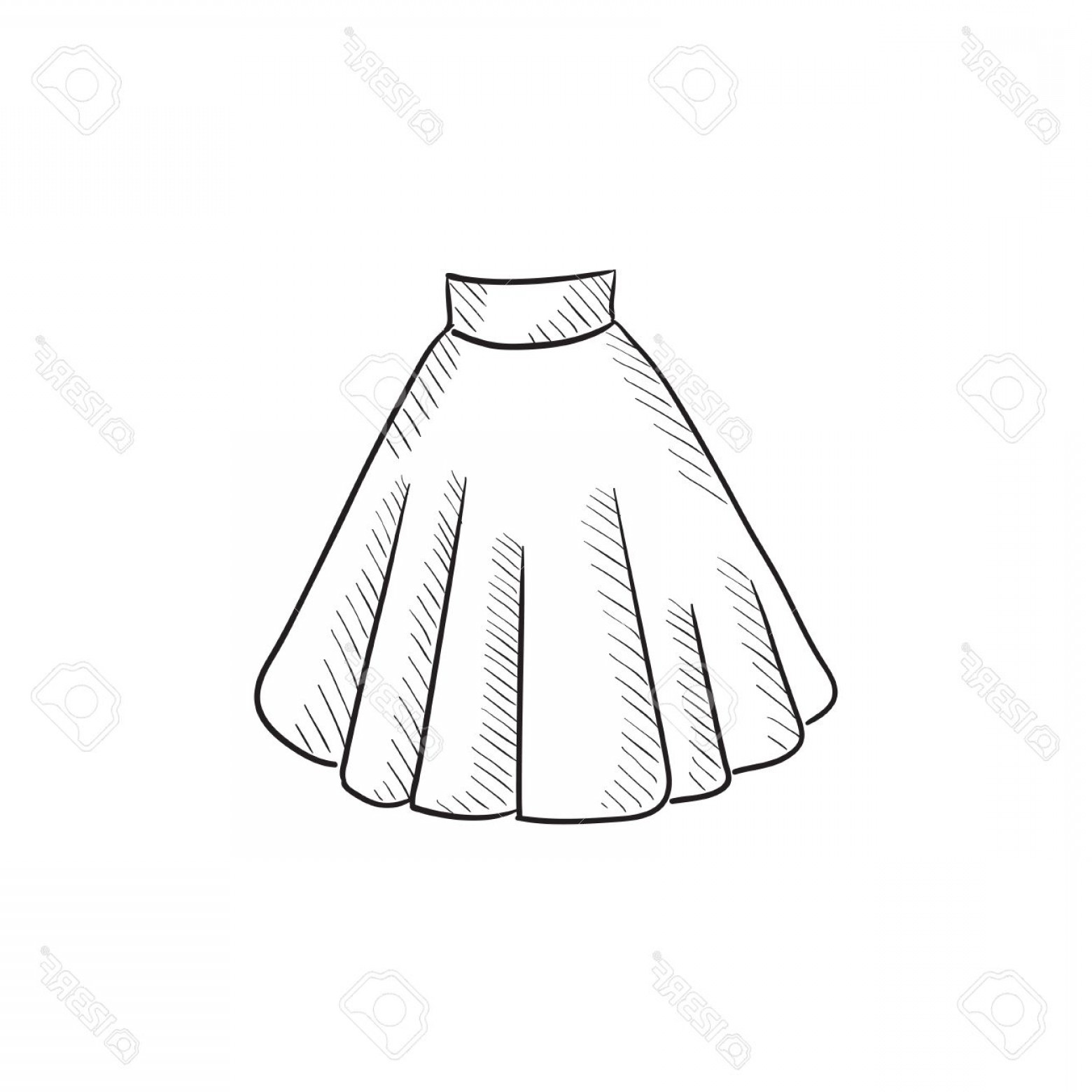 1560x1560 Photostock Vector Skirt Vector Sketch Icon Isolated On Background
