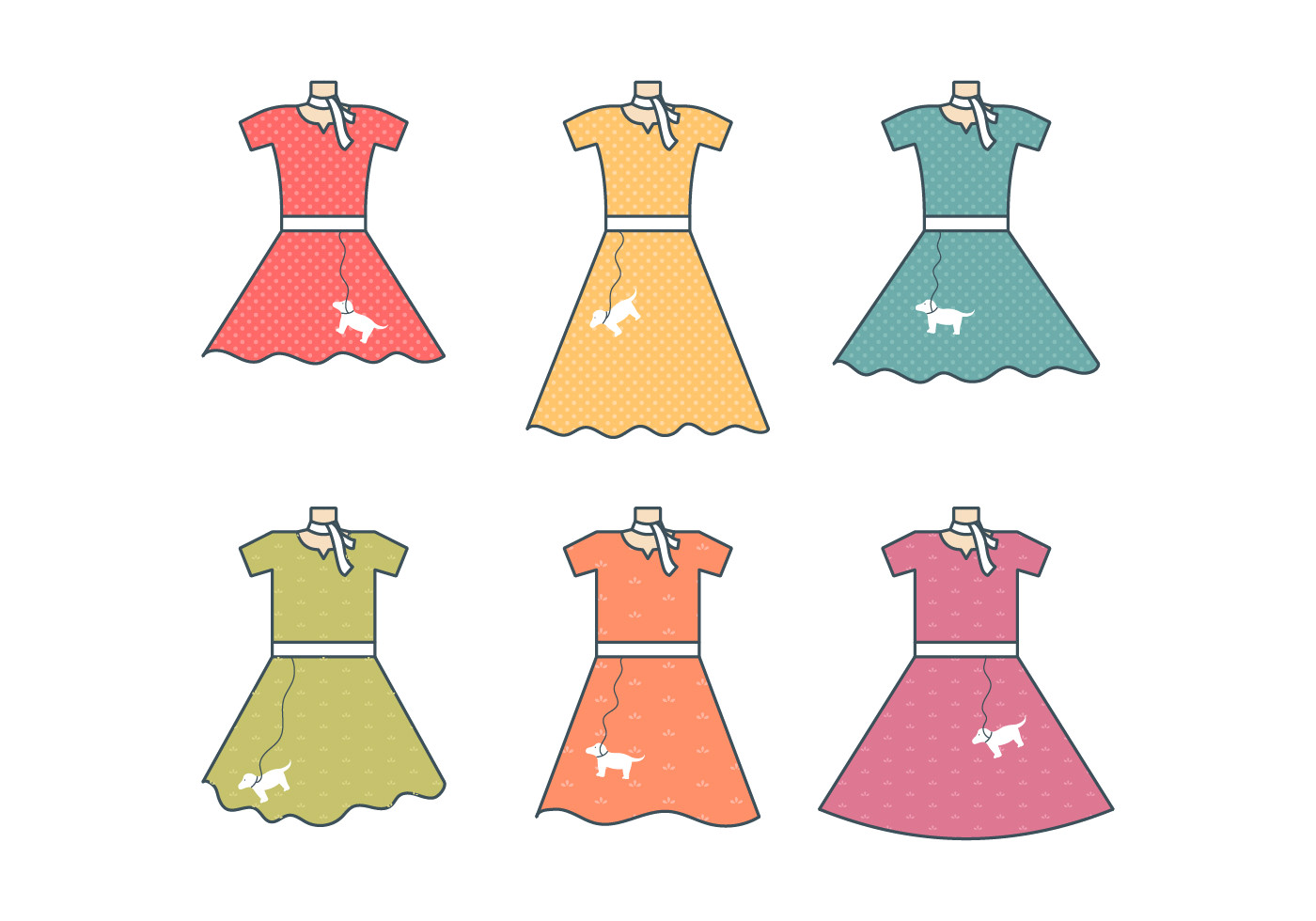 1400x980 Poodle Skirt Vector