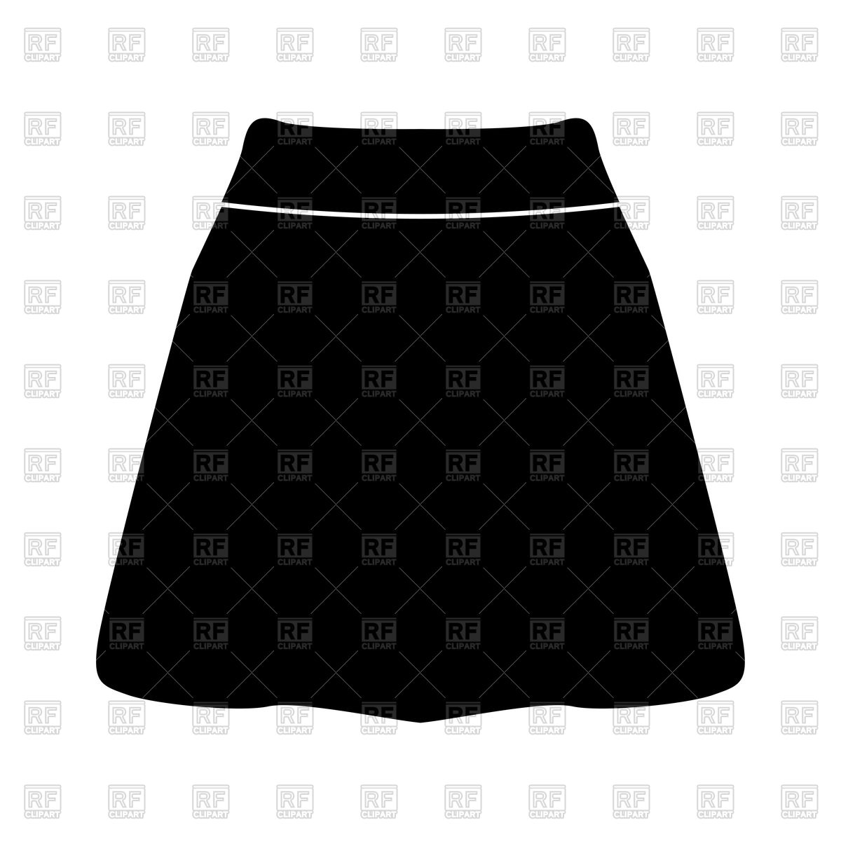 1200x1200 Skirt Black Color Icon Vector Image Vector Artwork Of Icons And