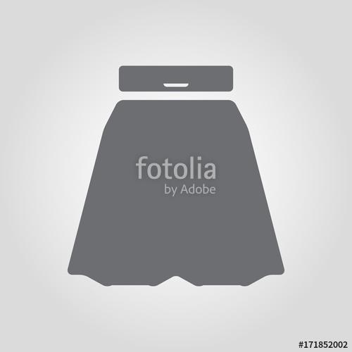 500x500 Semi Circular Skirt Vector Icon Stock Image And Royalty Free