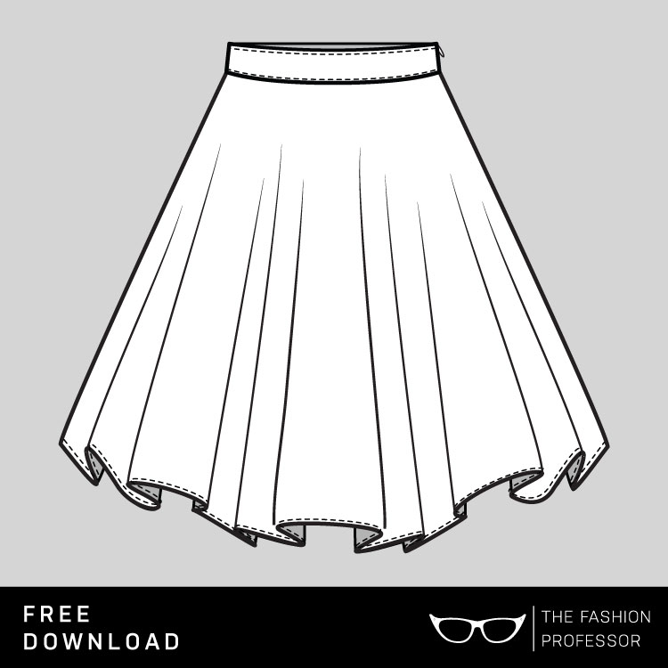750x750 Free Vector Download Circle Skirt The Fashion Professor