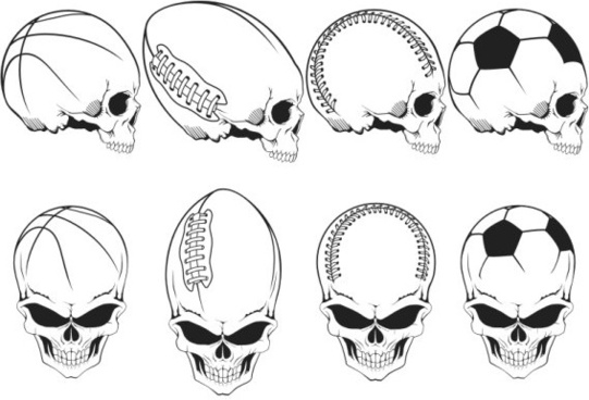 541x368 Free Cdr Vector Desain Skull With Bandana Free Vector Download