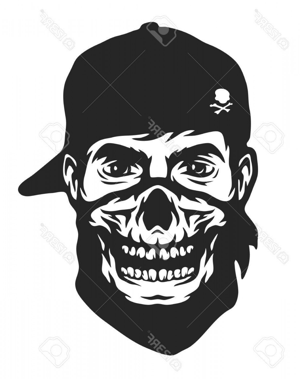 1234x1560 Photostock Vector The Guy In The Bandana With A Skull Pattern