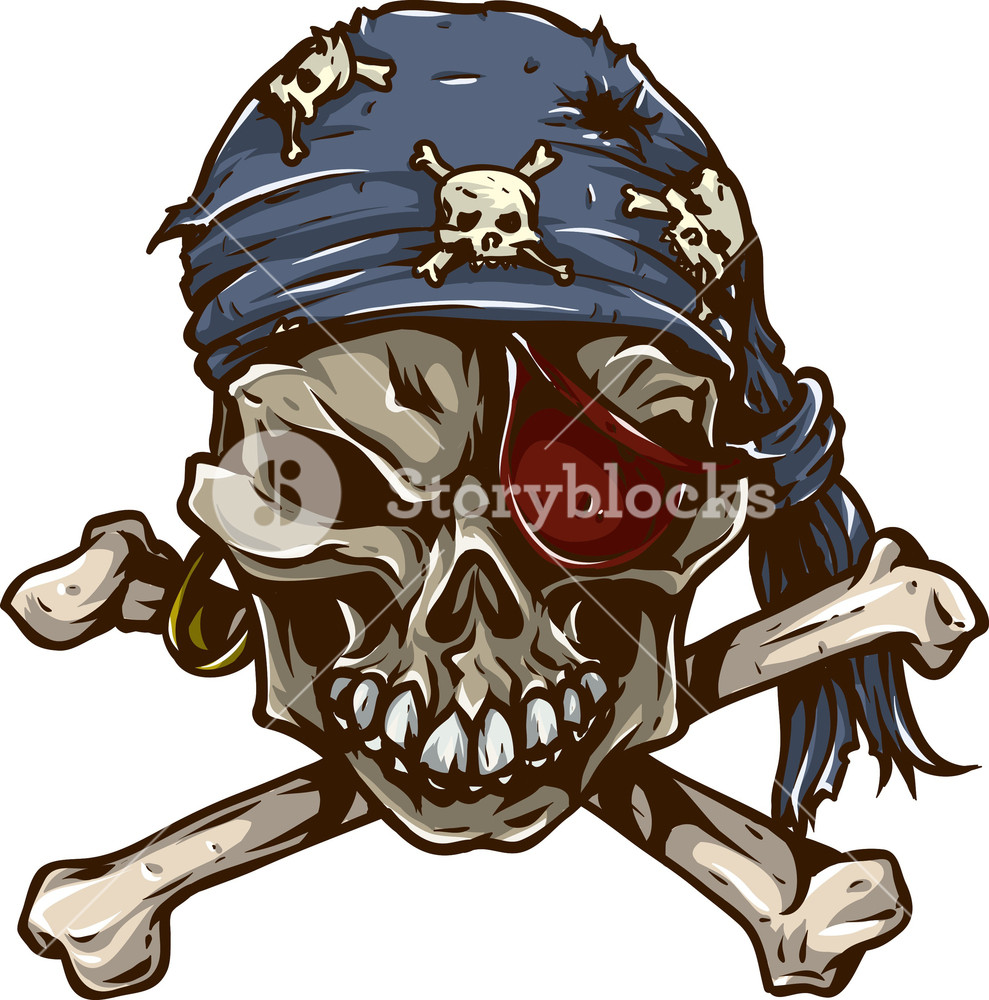 989x1000 Skull Vector Element Pirate Bandana Royalty Free Stock Image