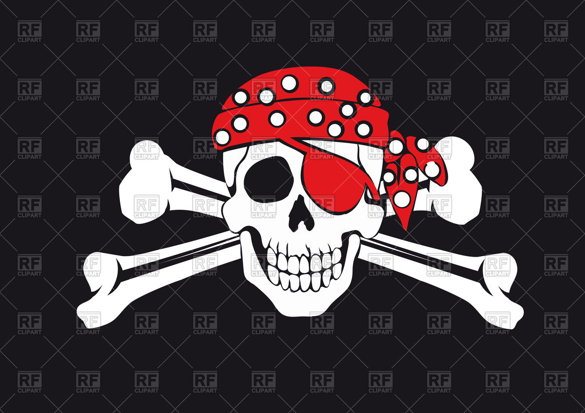 1200x848 Skull And Crossbones On Black Background