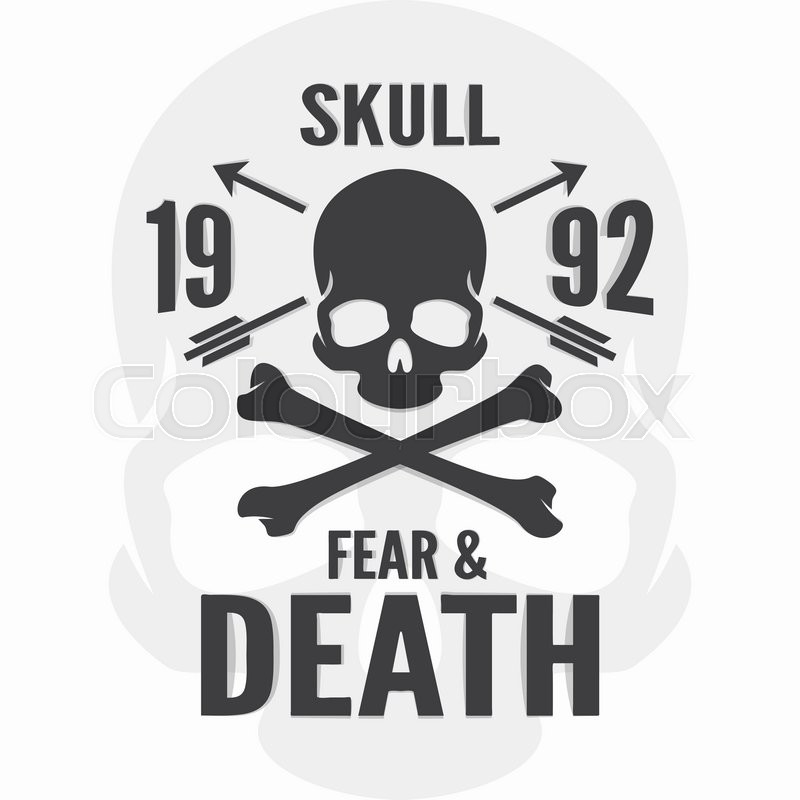 800x800 Fear And Death Print. Skull And Cross Bones Logo. Vector