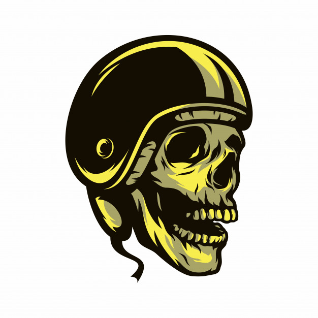 626x626 Ghost Rider Skull Road Biker Vector Mascot Illustration Vector
