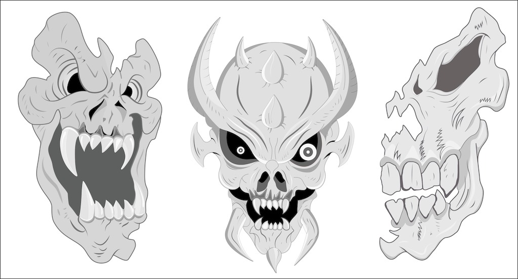 1024x553 Spooky Skull Vector Free Download Eps Files