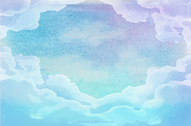 650x429 Vector Drawing Fresh Sky Clouds Background, Vector, Fresh