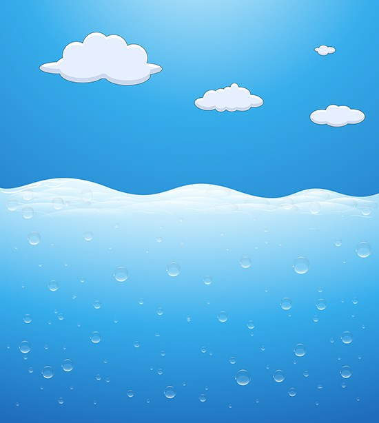 550x614 Download Free Underwater Scene And Clouds In Sky Vector Background