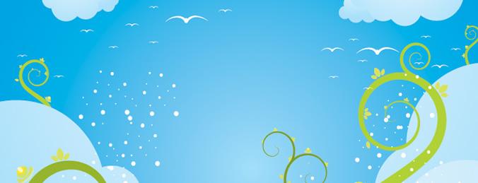 676x259 Dreamy Blue Sky Vectors Graphics Backgrounds Free Download