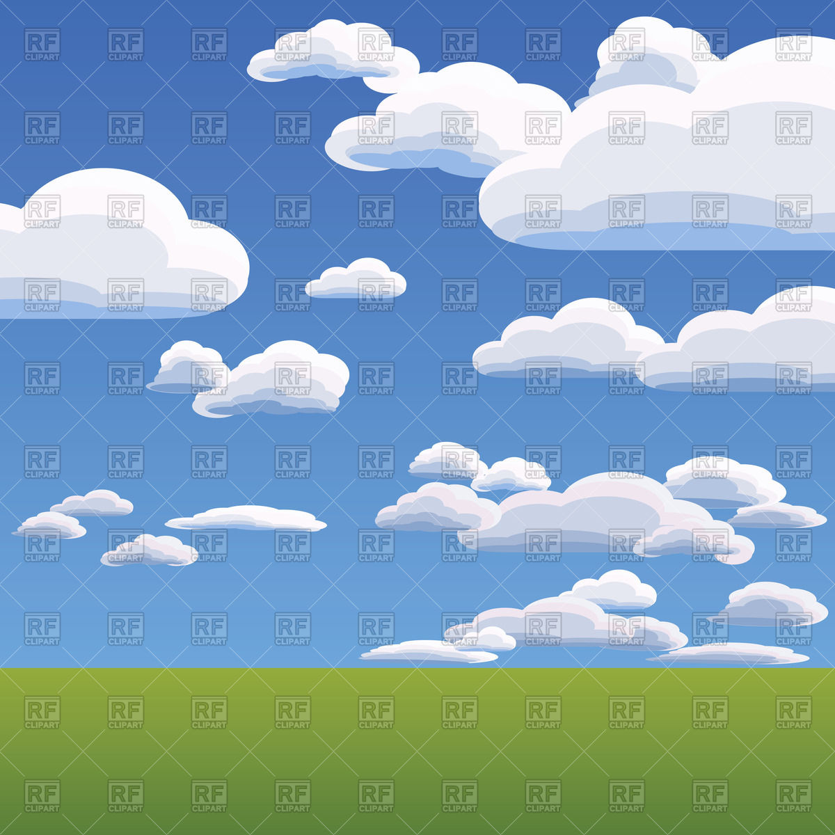 1200x1200 Summer Landscape With Heavenly Clouds Against The Blue Bright Sky