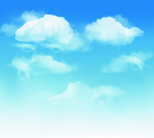 500x449 White Clouds With Blue Sky Vector 01 Free Download