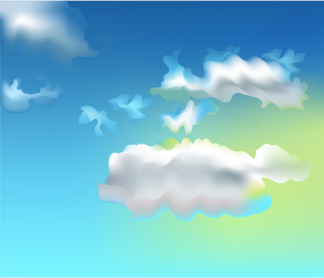 650x557 White Sky Blue Sky Background Vector Material, White Clouds, Blue