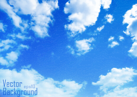 463x329 White Clouds With Blue Sky Vector Background Free Vector In