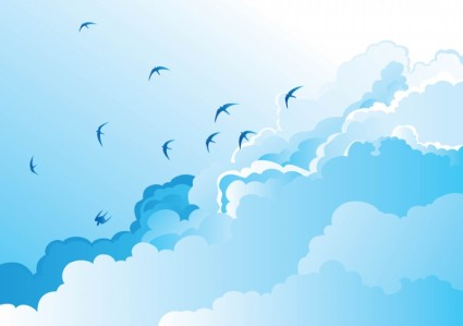 425x299 Birds In The Sky Vector Free Vector Download In .ai, .eps, .svg