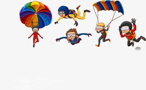 498x308 Skydiving Children Vector, Children Clipart, Parachute, Extreme