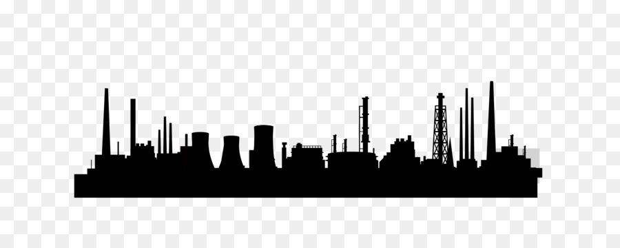 900x360 Factory Silhouette Skyline