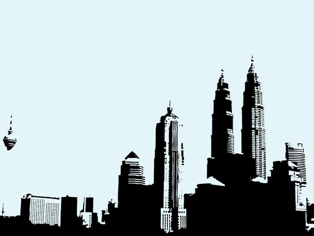 1024x768 Kuala Lumpur Skyline Vector Art Amp Graphics