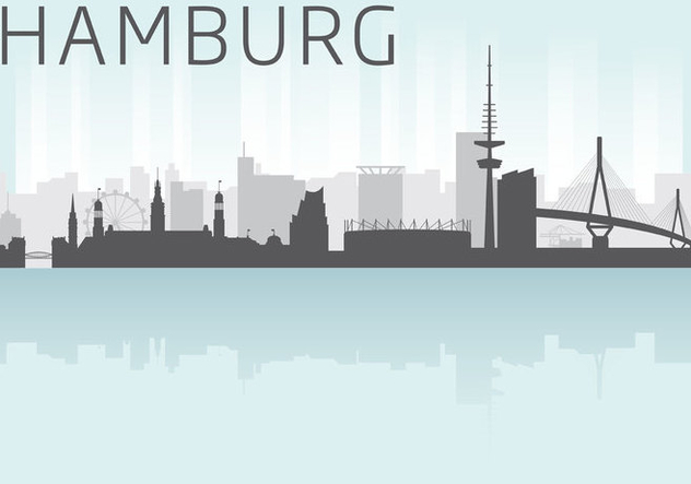 632x443 Hamburg Skyline Vector Free Vector Download 303681 Cannypic
