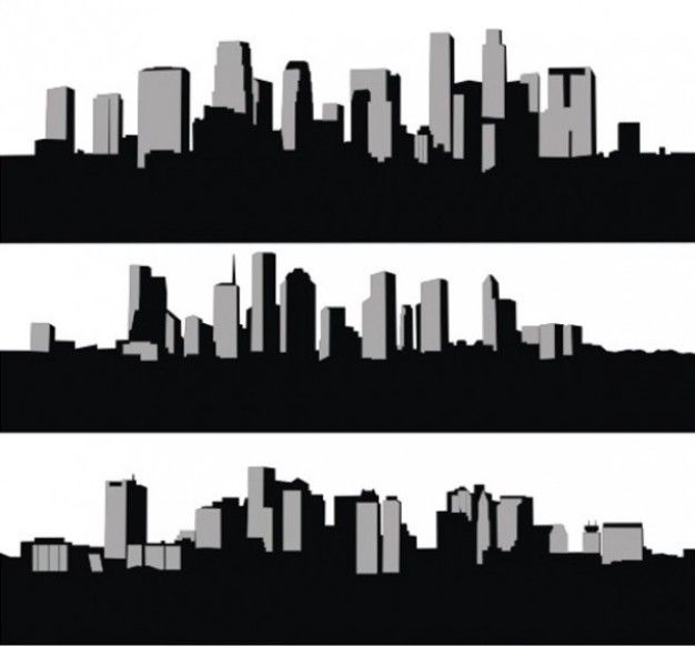 626x582 Houston Skyline Vector Silhouette Vector Free City Skyline