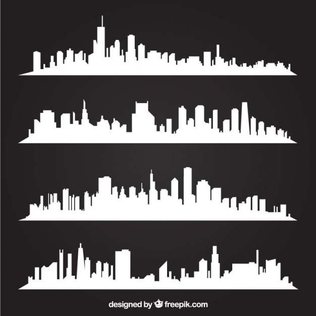 626x626 Skyline Background Vector Free Download