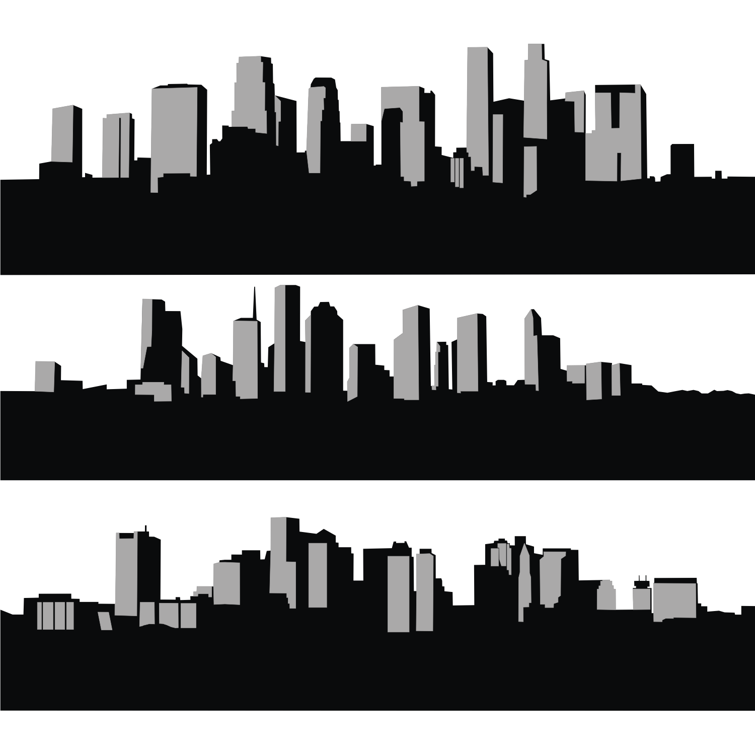 1500x1500 Vector For Free Use City Skyline Builtin Bookshelf Designs And