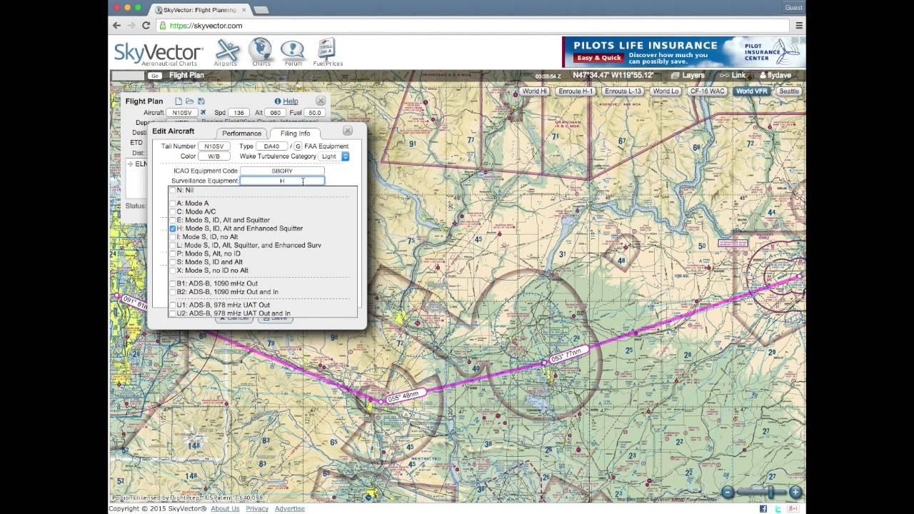 1280x720 Skyvector Flight Planning