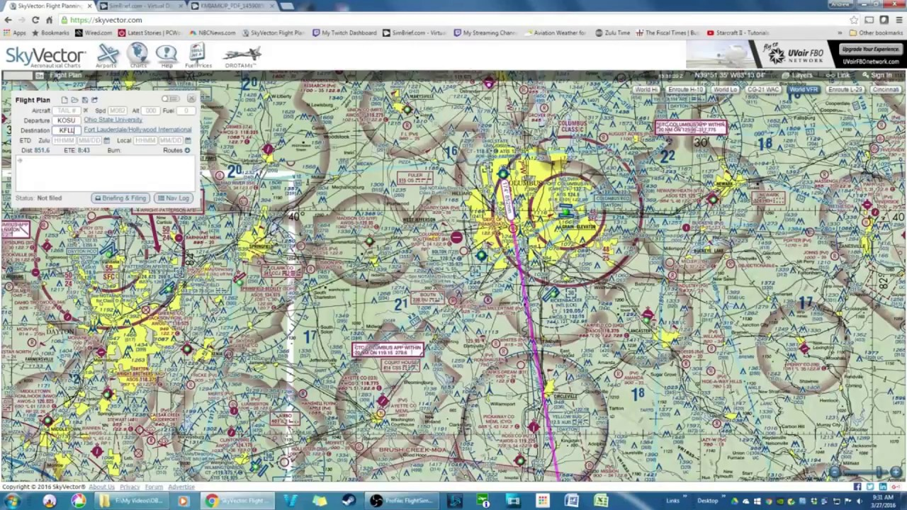 1280x720 Tutorial] How To Build A Flight Plan Using Skyvector And Simbrief
