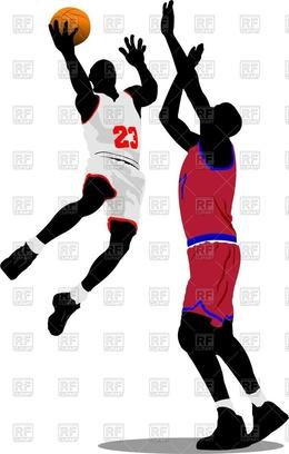 260x408 Download Basketball Player Dunk Vector Clipart Slam Dunk Basketball