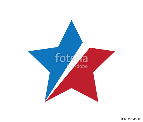 500x429 Red Blue Slash Star Logo Vector Stock Image And Royalty Free