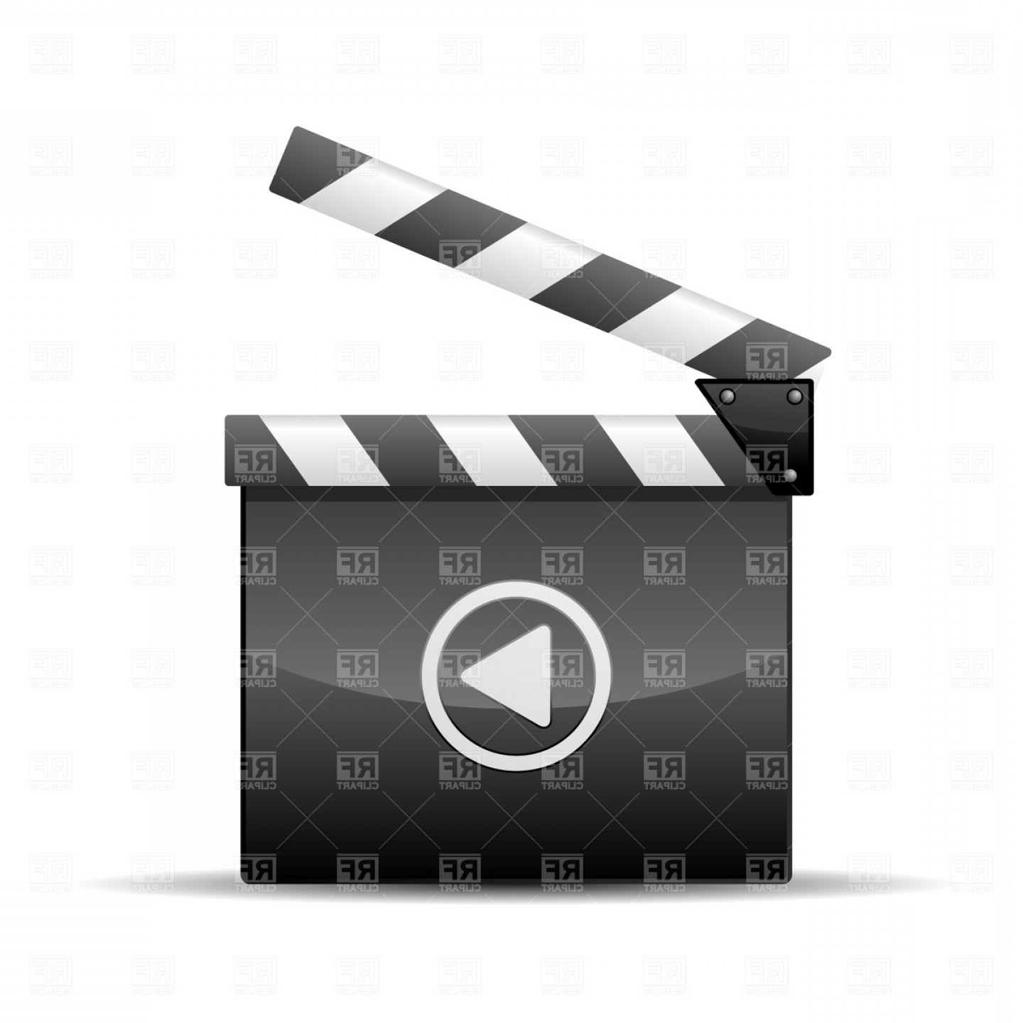 1440x1440 Player Icon Film Slate Vector Clipart Geekchicpro
