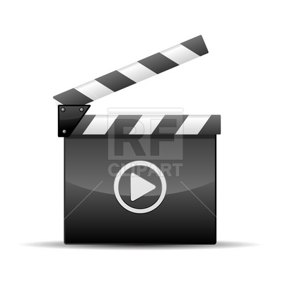 400x400 Player Icon Film Slate Vector Image Vector Artwork Of Technology