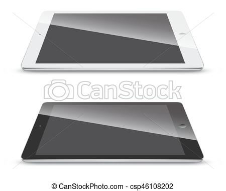 450x380 Tablet Pc Side View Isolated On White Background. Tablet Pc Side