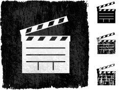 235x177 Film Slate On Royalty Free Vector Background Vector Art
