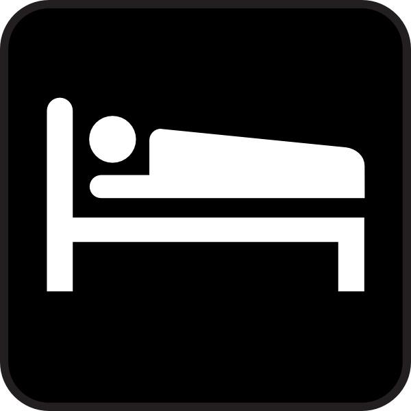 600x600 Hotel Motel Sleeping Accomodation Clip Art Free Vector In Open