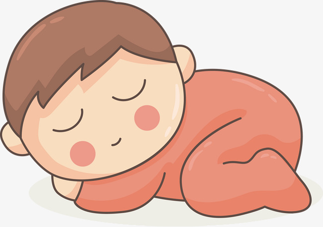 650x458 Cute Sleeping Baby Vector Material, Baby, Dreamland, Sleeping Png